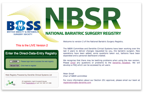 National Bariatric Surgical Registry Version 2